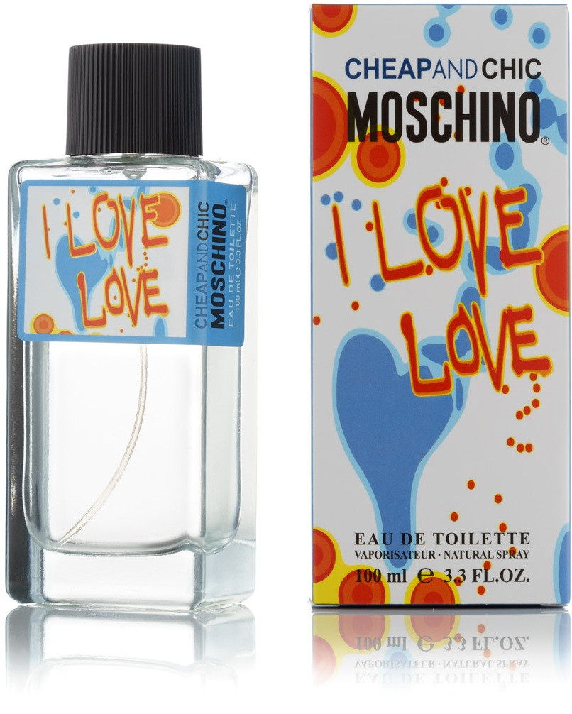 100 мл туалетная вода Moschino Cheap and Chic I Love Love - (Ж)