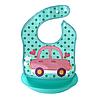 Слюнявчик с ковшом (розовая машина)