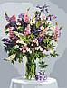 Картина за номерами Букет квітів на столі Натюрморт +ЛАК 40*50см Барви Розмальовки по цифрам, фото 2