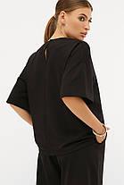 Модний чорний костюм з бавовни Бермуди і футболка оверсайз S M L XL, фото 3