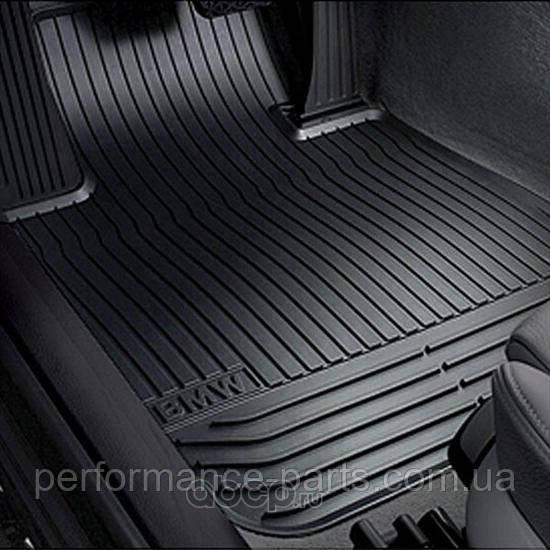 Передние ножные коврики для BMW 7 (F01, F02) черные