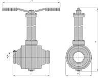 Кран шаровой подземный под приварку РN160 с ручным управлением DN 50