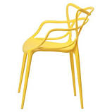 Стул Мастерс желтый пластик СДМ группа (бесплатная доставка), фото 2