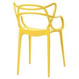 Стул Мастерс желтый пластик СДМ группа (бесплатная доставка), фото 3