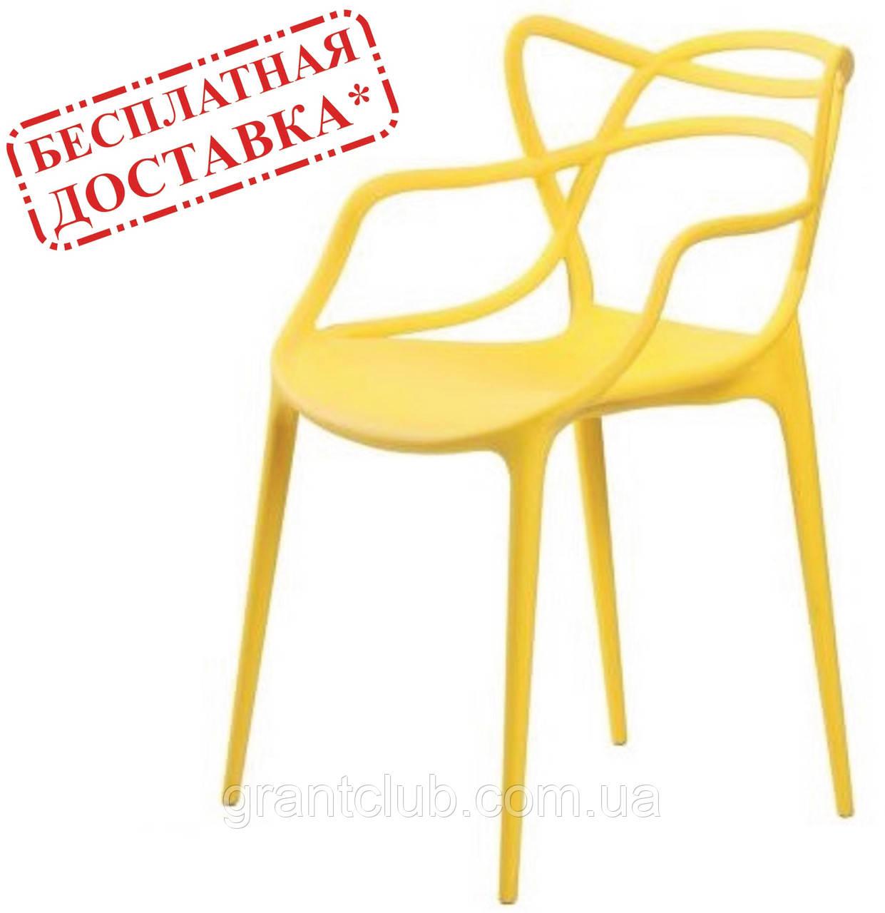 Стул Мастерс желтый пластик СДМ группа (бесплатная доставка)