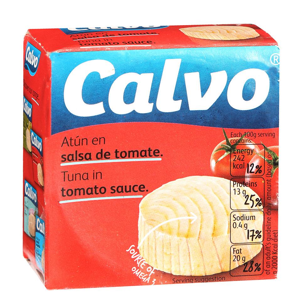 Тунець шматками CALVO в томатному соусі 80г 24 шт/ящ 22695