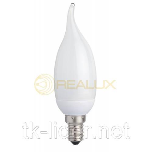 Энергосберегающая лампа  Realux 7W E27 6400k свеча