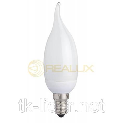 Энергосберегающая лампа  Realux 7W E27 6400k свеча, фото 2