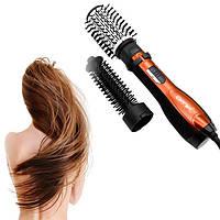 Многофункциональный фен-стайлер для волос 3 в 1 Gemei GM 4828 Черный