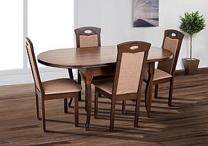 Кухонний комплект: стіл та 4 стільця -Олівер. Масив дерева.