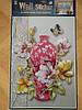 Объемная интерьерная виниловая наклейка на стену Ваза и бабочки, фото 2