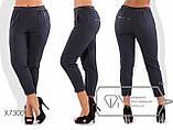 Распродажа. Женские брюки укороченные на резинке полубатал, разные цвета р.48 Код Лисмор, фото 2