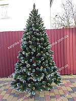 Новогодняя елка 2.00 м искусственная Кармен с золотыми шишками и жемчугом , фото 1