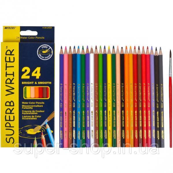 Карандаши цветные Marco Superb Writer 24 цвета для рисования и раскрашивания