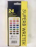 Карандаши цветные Marco Superb Writer 24 цвета для рисования и раскрашивания, фото 6