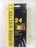 Карандаши цветные Marco Superb Writer 24 цвета для рисования и раскрашивания, фото 4