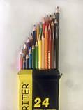Карандаши цветные Marco Superb Writer 24 цвета для рисования и раскрашивания, фото 5