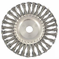 Щетка для УШМ, дисковая, жгутовая проволока 175мм, посадка 22,2 мм//MTX