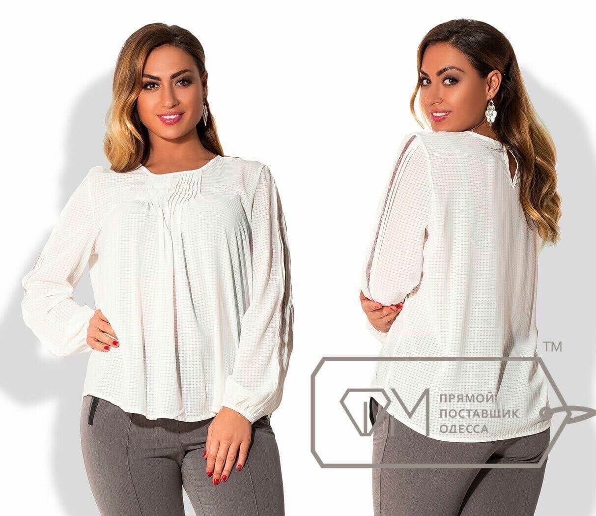 Распродажа. Блуза женская с длинным рукавом осенняя р.48,50 Код Парма