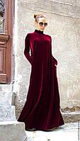 Вечірнє плаття оксамит, велюр, колір на вибір, розмір 42-74+ батал