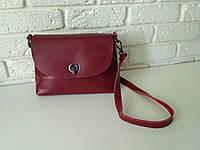 """Женская кожаная сумка """"Ненси Red Wine"""", фото 1"""