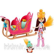 Набор Enchantimals Зимние сани и кукла Фелисити Лис GJX31