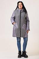 Женская демисезонная куртка больших размеров 52-62 серый