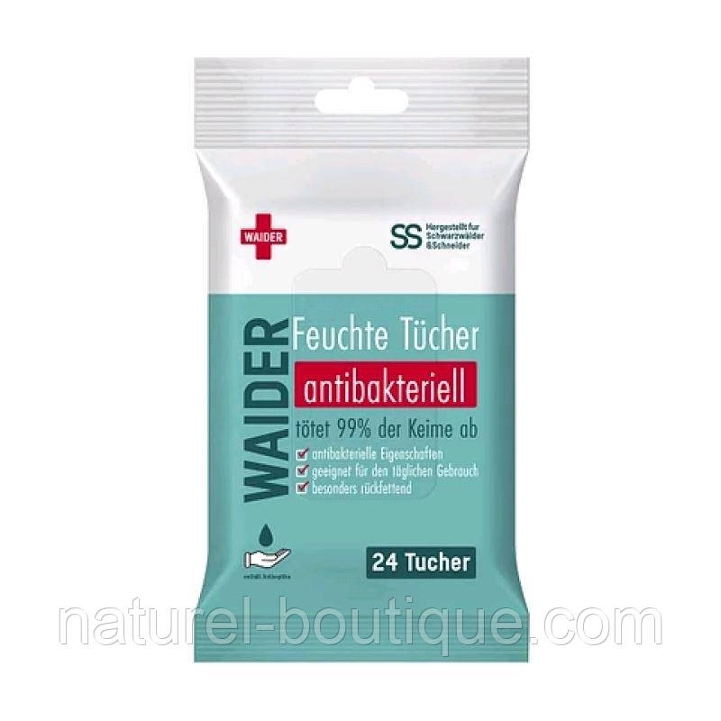 Салфетки антибактериальные Waider 24 шт