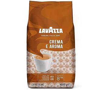 Кофе Lavazza в зернах Crema e Aroma 1 кг кремовая текстура и шоколадные нотки. Арабика.