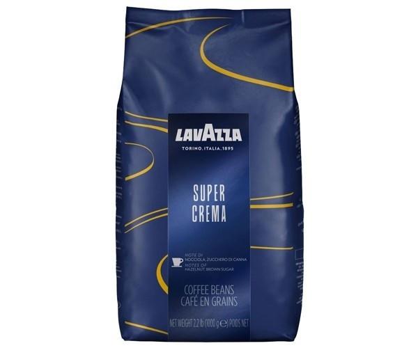 Кофе в  зернах Lavazza Super Crema 1 кг  интенсивный вкус с оттенком приправ и шоколада.Арабика,робуста