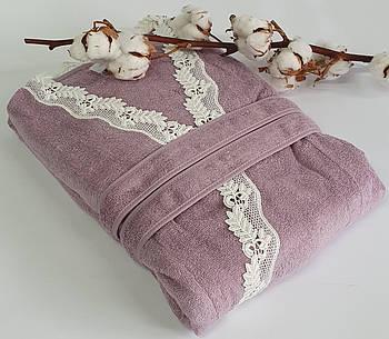 Халат женский Maison D'or Dina Longtemps Dark Lilac S