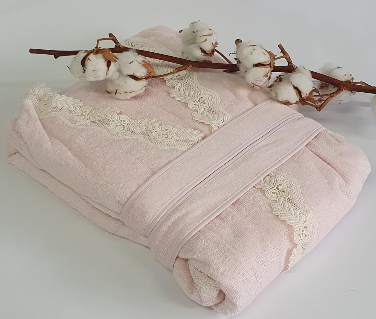 Халат жіночий Maison d'or Dina Longtemps Pink S