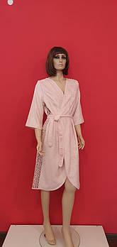Халат женский Maison D'or Felisiya Грязно-розовый (Rose Color) S