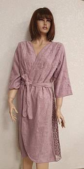 Халат женский Maison D'or Felisiya Фиолетовый (Dark Lilac) S