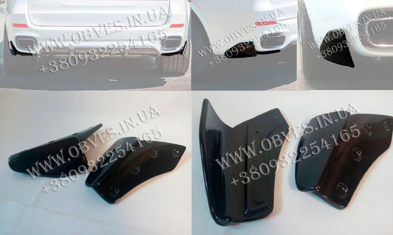 Карбоновые клыки M-Performance заднего бампера BMW X5 F15