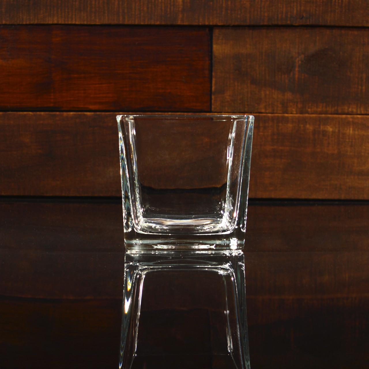 Квадратний свічник 10 х 10 х 10 см (УЦІНКА)