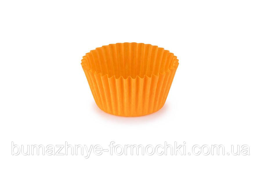 Формы для кексов из оранжевого пергамента, 45х35 мм