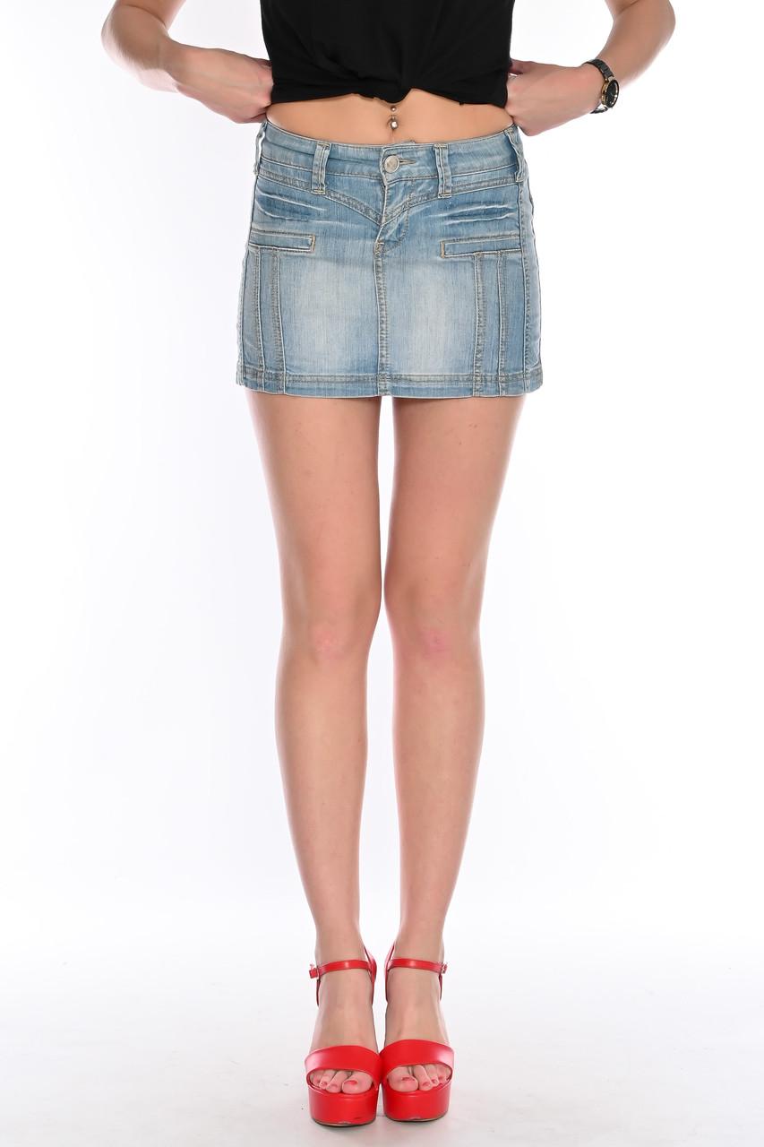 Юбка джинсовая омат 1331 синяя