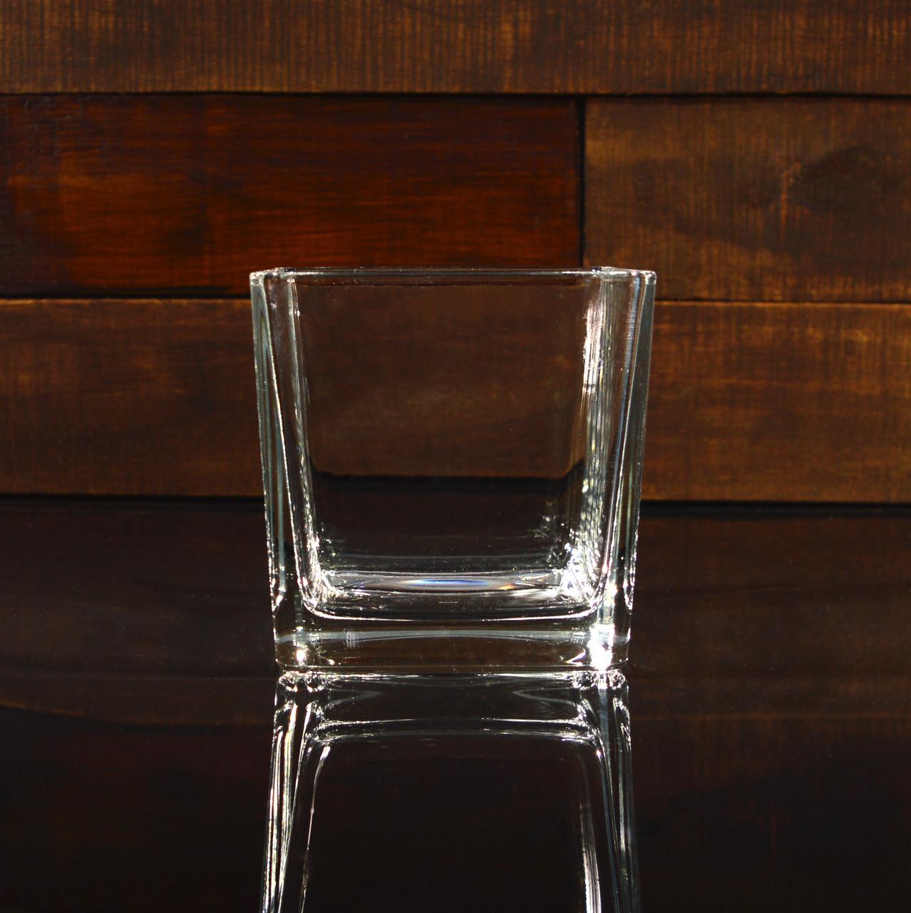 Квадратная ваза 12 х 12 х 12 см (УЦЕНКА)
