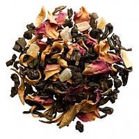 Зеленый чай Ганпаудер с манго, ананасом и лепестками цветов Планета Манго Space Coffee 100 грамм