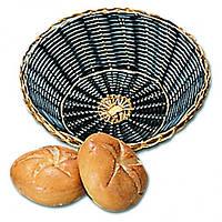 Хлебница круглая, 20 см , черная с золотым ободком плетеная Pro Master арт.10169