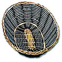 Хлебница овальная, 24х17см черная с золотым ободком плетеная соломка Pro Master арт.10170