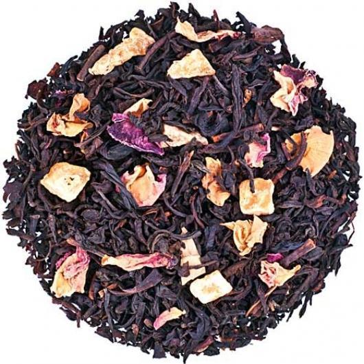 Черный чай с ананасом и лепестками роз 1001 звезда Space Coffee 50 грамм