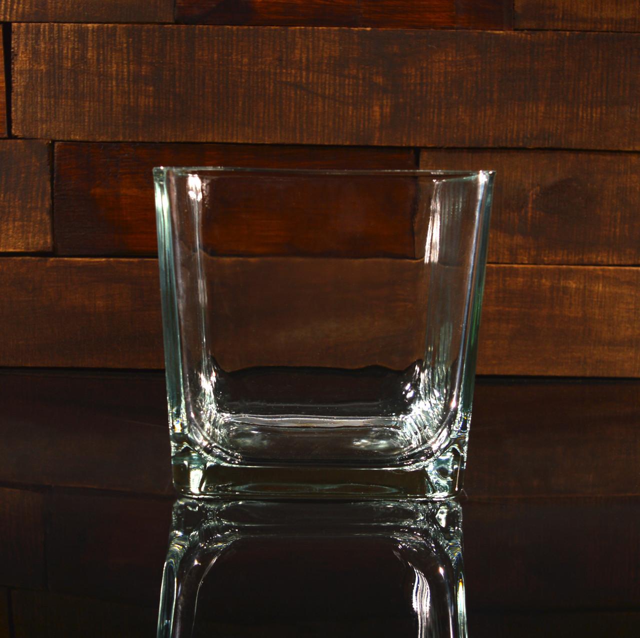 Квадратна ваза 18 х 18 х 18 см (УЦІНКА)