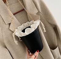 Черно-белая небольшая сумочка, фото 1
