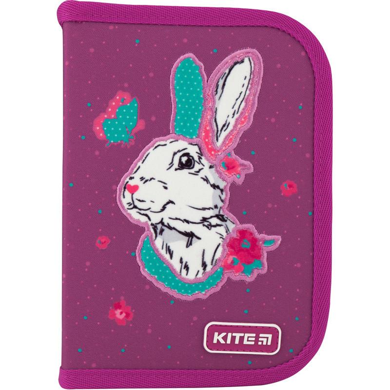 """Пенал Kite 1 отделение, пустой, 2 отворота, """"Bunny"""" K20-622-5, 609692"""