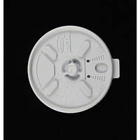 Крышка пластиковая белая универсальная с поилкой для стакана 14FJ12, 100 шт/уп