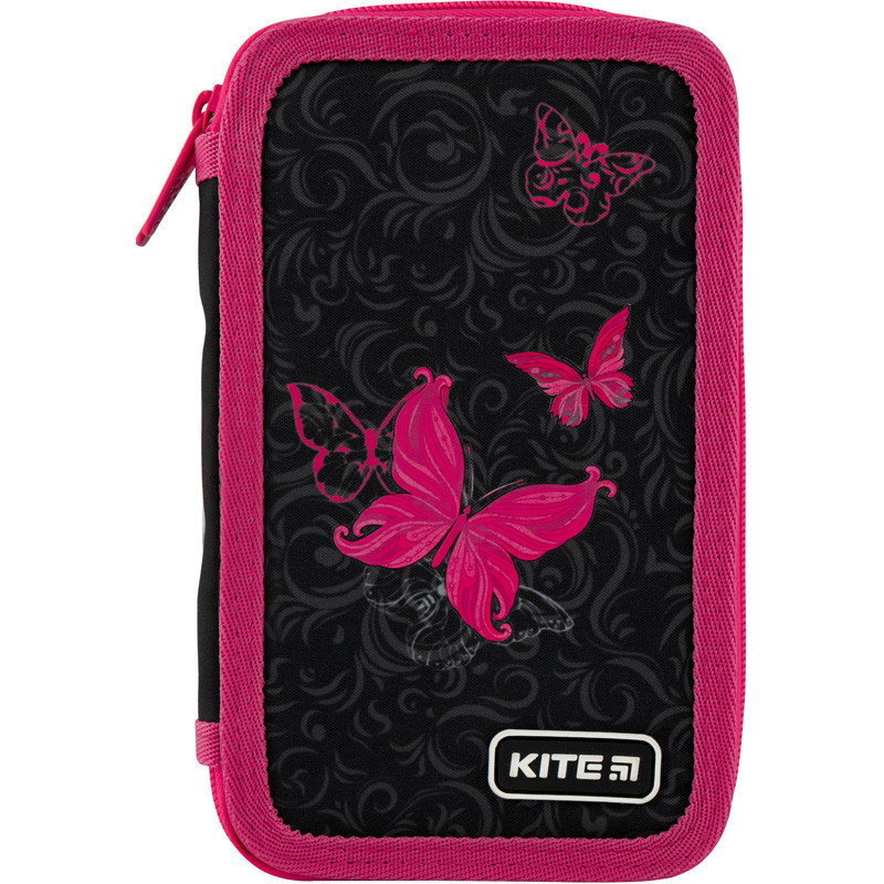 "Пенал Kite 2 отделения, пустой, ""Butterfly tale"" K20-623-3, 610363"