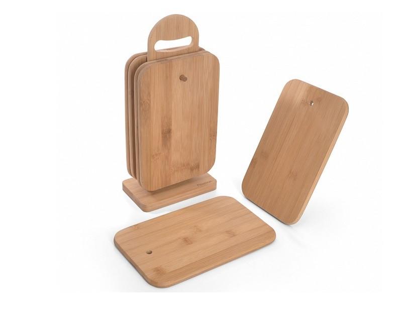 Набор Fissman из 6 бамбуковых разделочных досок 23x15x1 см 8786
