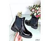 Ботиночки челси лаковые, фото 5